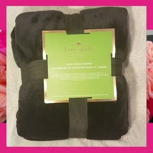"Kate Spade NY Twin Fleece Blanket 68x90"""